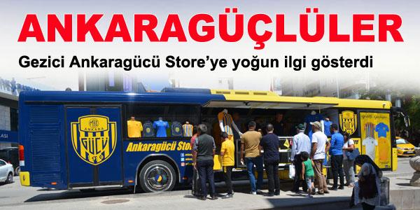 Gezici Ankaragücü Store ilçemize geldi