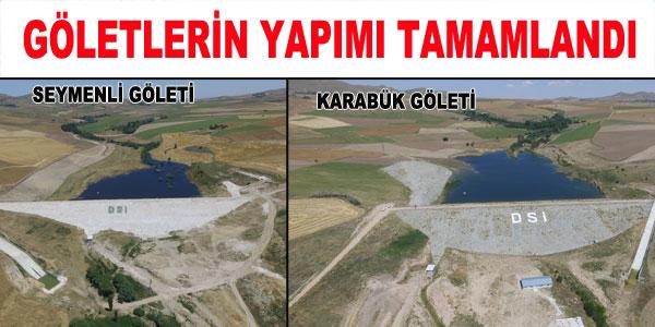 Göletlerden 1970 dekar arazi sulanacak