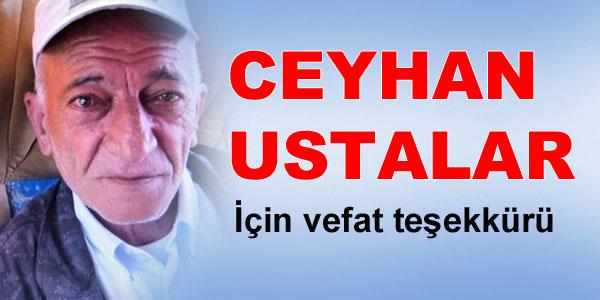 Vefat Teşekkür - Ceyhan Ustalar