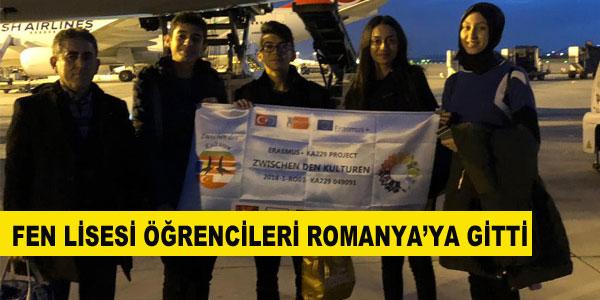 Fen Lisesi öğrencileri Romanya'ya gitti