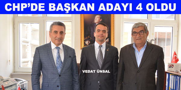 CHP'de Vedat Ünsal da Aday