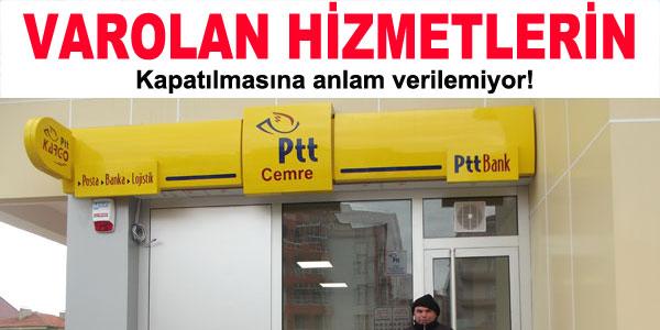PTT Şubesi Kapandı