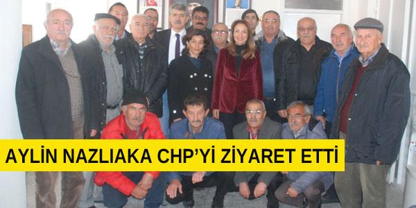 Aylin Nazlıaka CHP ilçe teşkilatını ziyaret etti
