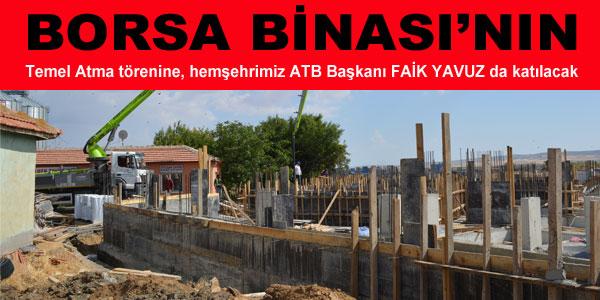 Ticaret Borsası inşaatı hızla ilerliyor