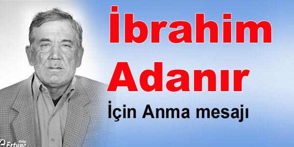 Anma - İbrahim Adanır