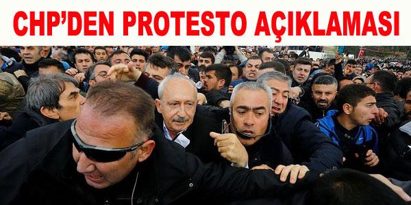 Protesto değil, organize bir eylem