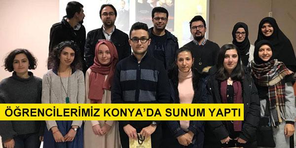Fen Lisesi öğrencileri Konya'da sunum yaptı