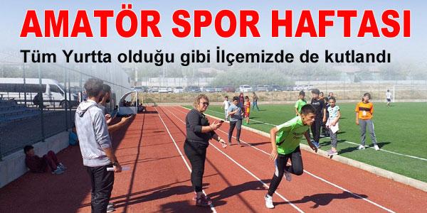 Amatör Spor haftası kutlandı