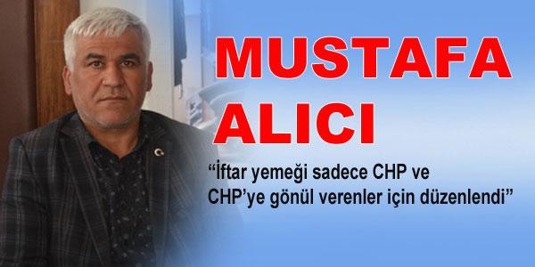 Mustafa Alıcı'nın açıklaması
