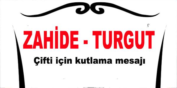 Zahide - Turgut çifti için kutlama