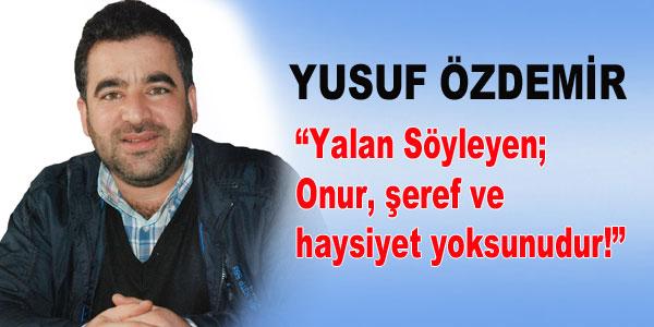 Yusuf Özdemir'den açıklama