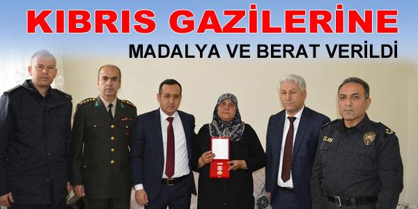 İlçemizdeki Kıbrıs Gazisine de verildi