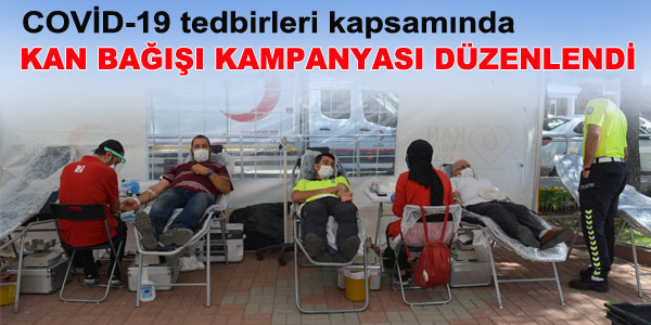 Kan bağışı kampanyasına ilgi yoğundu