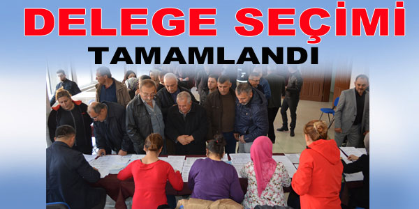 Seçim sonucunda 416 delege seçildi