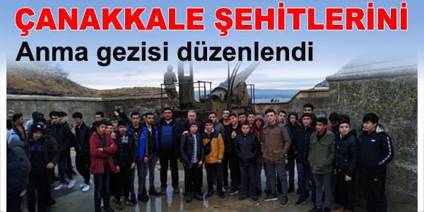 Geziye 44 erkek öğrenci katıldı