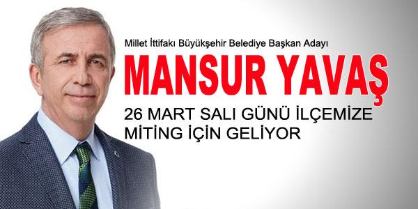 Millet İttifakı Büyükşehir Belediye Başkanı Adayı gelecek