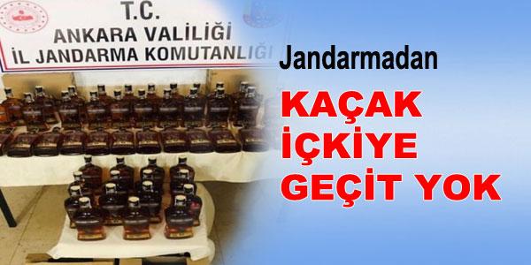 48 litre bandrolsüz kaçak içki ele geçirildi
